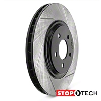StopTech Slotted Rotors - Front Pair (94-04 Bullitt, Mach 1, Cobra) - StopTech 126.61044SL||126.61045SR