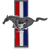 Ford Racing Tri-Bar Pony Fender Emblem - LH (05-09 V6) - Ford Racing 6R3Z-16228-B