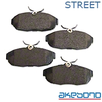 Akebono ProAct Ultra Premium Ceramic Brake Pads - Rear Pair (05-14 All) - Akebono ACT1082