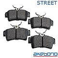 Akebono ProAct Ultra Premium Ceramic Brake Pads - Rear Pair (94-04 GT, V6) - Akebono ACT627