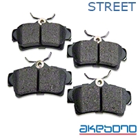 ProAct Ultra Premium Ceramic Brake Pads - Rear Pair (94-04 GT, V6) - Akebono Brakes ACT627