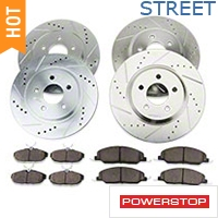 Power Stop Brake Rotor & Pad Kit - Front & Rear (05-10 GT) - Power Stop K1381