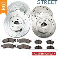 Power Stop Brake Rotor & Pad Kit - Front & Rear (94-04 Bullitt, Mach 1, Cobra) - Power Stop K1305||K1305
