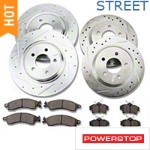 Power Stop Brake Rotor & Pad Kit - Front & Rear (94-04 Bullitt, Mach 1, Cobra) - Power Stop K1305