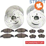 Power Stop Brake Rotor & Pad Kit - Front & Rear (99-04 GT, V6) - Power Stop K1302