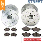Power Stop Brake Rotor & Pad Kit - Front & Rear (94-98 GT, V6) - Power Stop K1300