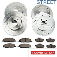 Power Stop Brake Rotor & Pad Kit - Front & Rear (11-14 V6) - Power Stop K5450