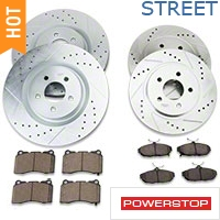 Power Stop Brake Rotor & Pad Kit - Front & Rear (11-14 GT Brembo, 12-13 BOSS, 07-12 GT500) - Power Stop K4148