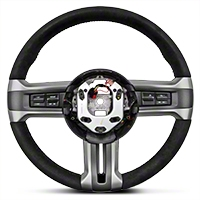Ford Racing BOSS 302 Alcantara Suede Steering Wheel (10-14 All) - Ford Racing 3600AA