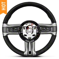 BOSS 302 Alcantra Suede Steering Wheel (10-14 All) - Ford Racing 3600AA