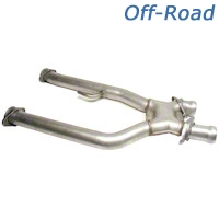 BBK Off-Road X-Pipe (79-93 5.0L w/ Long Tube Headers) - BBK 1660