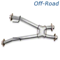 BBK Off-Road X-Pipe - Automatic (79-93 5.0L w/ Long Tube Headers) - BBK 1811