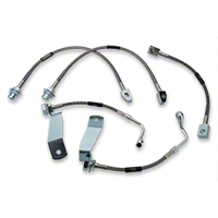 Russell Stainless Steel Braided Brake Line Kit - Front & Rear (94-95 Cobra) - Russell 693350