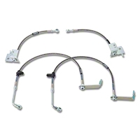 Russell Stainless Steel Braided Brake Line Kit - Front & Rear (05-14 GT, V6 w/ ABS) - Russell 693380