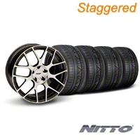 Staggered TSW Nurburingring Gunmetal Wheel & NITTO INVO Tire Kit - 18x8/9 (05-14) - American Muscle Wheels KIT||27351||27353||79522