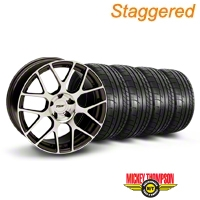 TSW Staggered Nurburingring Gunmetal Wheel & Mickey Thompson Tire Kit - 18x8/9 (05-14) - TSW KIT||27351||27353||79537