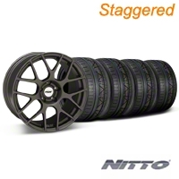 TSW Staggered Nurburgring Matte Gunmetal Wheel & NITTO INVO Tire Kit - 19x8.5/9.5 (05-14) - TSW KIT||27354||27361||79520