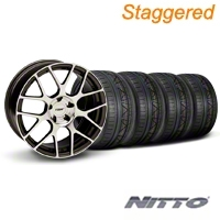 TSW Staggered Nurburgring Gunmetal Wheel & NITTO INVO Tire Kit - 19x8.5/9.5 (05-14) - TSW KIT||27355||27360||79520