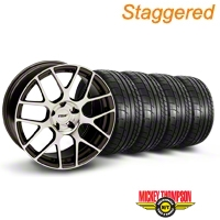TSW Staggered Nurburgring Gunmetal Wheel & Mickey Thompson Tire Kit - 19x8.5/9.5 (05-14) - TSW KIT||27355||27360||79539