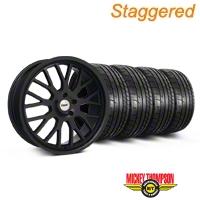 Staggered TSW Tremblant Matte Black Wheel & Mickey Thompson Tire Kit - 20x8.5/10 (05-14) - American Muscle Wheels KIT||35617||35618||79541