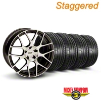 TSW Staggered Nurburgring Gunmetal Wheel & Mickey Thompson Tire Kit - 20x8.5/10 (05-14) - TSW KIT||27357||27359||79541