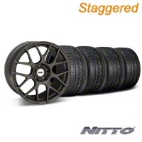 TSW Staggered Nurburing Matte Gunmetal Wheel & NITTO INVO Tire Kit - 20x8.5/10 (05-14) - TSW KIT||27356||27358||79524