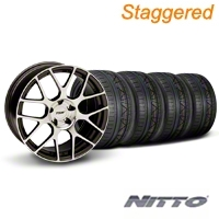 TSW Staggered Nurburgring Gunmetal Wheel & NITTO INVO Tire Kit - 20x8.5/10 (05-14) - TSW KIT||27357||27359||79524