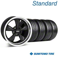Bullitt Matte Black Wheel & Sumitomo All Season Tire Kit - 17x9 (87-93 5 Lug Conversion) - American Muscle Wheels KIT||28301