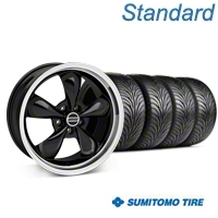 Bullitt Black Wheel & Sumitomo Tire Kit - 17x9 (87-93 5 Lug Conversion) - American Muscle Wheels KIT||28261