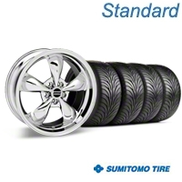 Bullitt Chrome Wheel & Sumitomo Tire Kit - 17x9 (87-93 5 Lug Conversion) - American Muscle Wheels KIT||28262