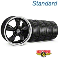 Bullitt Black Wheel & Mickey Thompson Tire Kit - 17x9 (87-93 5 Lug Conversion) - American Muscle Wheels KIT||28261