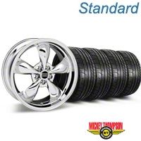 Bullitt Chrome Wheel & Mickey Thompson Tire Kit - 17x9 (87-93 5 Lug Conversion) - American Muscle Wheels KIT||28262