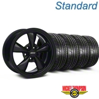 Bullitt Solid Black Wheel & Mickey Thompson Tire Kit - 17x9 (87-93 5 Lug Conversion) - American Muscle Wheels KIT||28480
