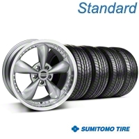 Bullitt Motorsport Anthracite Wheel & Sumitomo All Season Tire Kit - 18x9 (87-93 5 Lug Conversion) - American Muscle Wheels KIT||10117