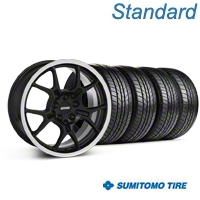 GT4 Black Wheel & Sumitomo All Season Tire Kit - 18x9 (87-93 5 Lug Conversion) - American Muscle Wheels KIT||28132