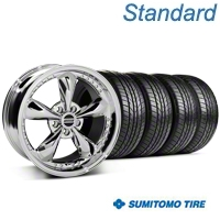 Bullitt Motorsport Chrome Wheel & Sumitomo All Season Tire Kit - 18x9 (87-93 5 Lug Conversion) - American Muscle Wheels KIT||10113