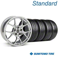 GT4 Chrome Wheel & Sumitomo All Season Tire Kit - 18x9 (87-93 5 Lug Conversion) - American Muscle Wheels KIT||28133