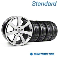 S197 Saleen Chrome Wheel & Sumitomo All Season Tire Kit - 18x9 (87-93 5 Lug Conversion) - American Muscle Wheels KIT||28355