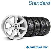 S197 Saleen Style Silver Wheel & Sumitomo All Season Tire Kit - 18x9 (87-93 5 Lug Conversion) - American Muscle Wheels KIT||28356