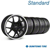 GT4 Black Wheel & Sumitomo Tire Kit - 18x9 (87-93 5 Lug Conversion) - American Muscle Wheels KIT||28132