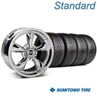 Bullitt Motorsport Chrome Wheel & Sumitomo Tire Kit - 18x9 (87-93 5 Lug Conversion) - American Muscle Wheels KIT||10113
