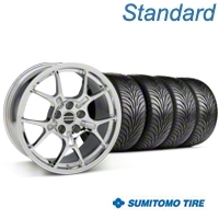 GT4 Chrome Wheel & Sumitomo Tire Kit - 18x9 (87-93 5 Lug Conversion) - American Muscle Wheels KIT||28133