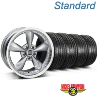 Bullitt Motorsport Anthracite Wheel & Mickey Thompson Tire Kit - 18x9 (87-93 5 Lug Conversion) - American Muscle Wheels KIT||10117