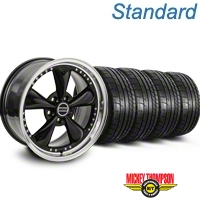 Bullitt Motorsport Black Wheel & Mickey Thompson Tire Kit - 18x9 (87-93 5 Lug Conversion) - American Muscle Wheels KIT||10082