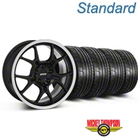 GT4 Black Wheel & Mickey Thompson Tire Kit - 18x9 (87-93 5 Lug Conversion) - American Muscle Wheels KIT||28132
