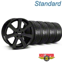 S197 Saleen Style Black Wheel & Mickey Thompson Tire Kit - 18x9 (87-93 5 Lug Conversion) - American Muscle Wheels KIT||28357