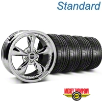 Bullitt Motorsport Chrome Wheel & Mickey Thompson Tire Kit - 18x9 (87-93 5 Lug Conversion) - American Muscle Wheels KIT||10113