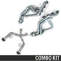 Kooks Header and Off-Road X-Pipe Combo - 1-3/4in (07-10 GT500) - Kooks 6027||6029-OX