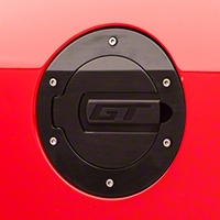 SHR Black Fuel Door - GT Logo (05-09 All) - SilverHorse Racing 5001-B-GT