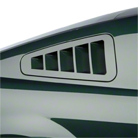 SHR Flush-Mount Quarter Window Louvers - Unpainted (05-09 All) - SilverHorse Racing S197-300